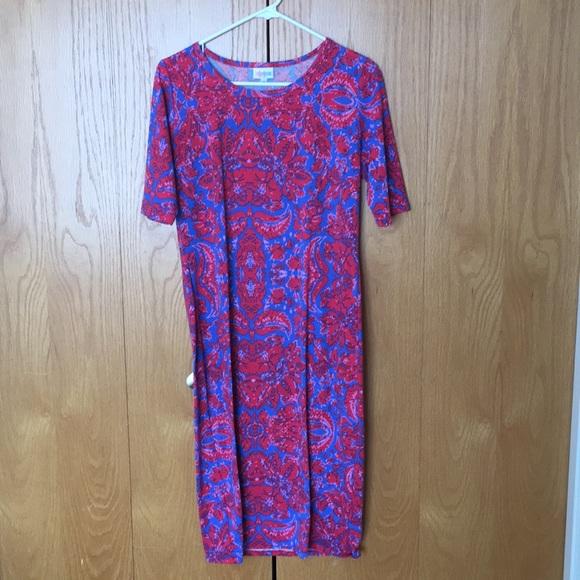990971bf5bc LuLaRoe Dresses   Skirts - Lularoe Julia Size Medium Floral Print Dress